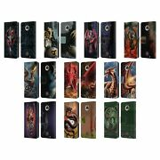 Official Anne Stokes Dragons Leather Book Wallet Case Cover For Motorola Phones