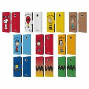 Official Peanuts Characters Leather Book Wallet Case Cover For Motorola Phones