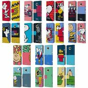 Official Peanuts Halfs And Laughs Leather Book Wallet Case For Motorola Phones