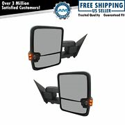 Tow Mirror Power Fold Heat Memory Smoke Signal Puddle Chrome For Gm Without Oat