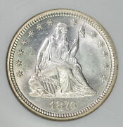 1876 Cc Ngc Ms64 Richmond Collection Seated Liberty Quarter Itemt12542