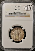 1921 Standing Liberty Quarter. In Ngc Holder. Au 58. G933