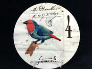 Williams Sonoma 4 Calling Birds 12 Days Of Christmas Single Luncheon Plate