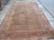 An Antique Palace Size Burgundy Ground Worn Out Mahal Rug And039boho Chic Distressed
