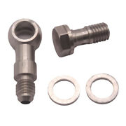 Steel Banjo Bolt Fittings M10x1.5 Mm To 4an +1.8mm For Mitsubishi Td04l Td05h