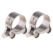 Pack Of 2 Stainless Steel Hose Clamp Exhaust Pipe Turbo Clip 32-35mm