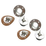 2pcs/set Stainless Steel Aircraft Fuel Cell Gas Cap Flush Mount 6 Hole Anodized