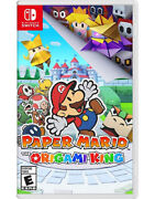 Paper Mario The Origami King -- Standard Edition Nintendo Switch, 2020