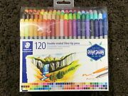 Staedtler 120 Double Ended Fibre Tip Pens 3.0mm 0.5-0.8mm New Free Shipping