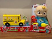 New Cocomelon Plush Bedtime Jj Doll 10andrdquo And Yellow Jj School Bus Ship Now