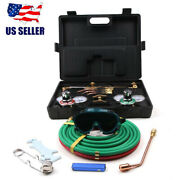 New Portable Professional Welding And Cutting Kit Welders Tool With Hose + Case Us