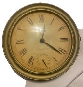 Double Sided Clock Union Station 1896 Chicago Round Thermometer Metal Brass
