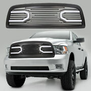 For 2009-2012 Dodge Ram 1500 Front Big Horn Black Packaged Grille+shell And Light