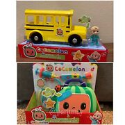 Cocomelon Roleplay Musical Checkup Case And Yellow Jj School Bus 2-day Shipping