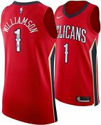 New Orleans Pelicans Zion Williamson Fanatics Signed Red Authentic Jersey