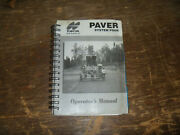 Topcon Paver System Four 4 Owner Operator Maintenance Manual User Guide