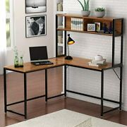 Tribesigns L-shaped Desk With Hutch,55 Corner Computer Desk Gaming Table Vv7