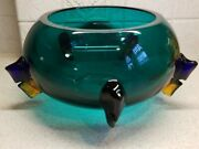 Signed Barovier And Toso Murano Art Glass Abstract Vase 3 Color 5 1/2 X 11