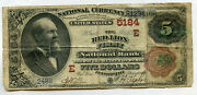 The Red Lion First National Bank Pennsylvania Five Dollar 5