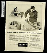 1956 Bostitch Staplers And Staples Vintage Print Ad 8376