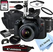 Canon Eos Rebel T7 Dslr Camera With 18-55mm F/3.5-5.6 Zoom Lens + 32gb Card, Tri