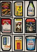 1974 Topps Wacky Packs Series 5 Complete Set W/puzzle 32/32 Nm Packages Trix