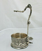 Antique Vintage Corbell And Co. Silverplate 10.75 Wine Bottle Holder Putti Grapes