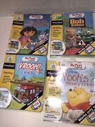 Leap Frog For My First Leap Pad Pooh Bob Dora Vroom Lot Of 4