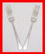 Epns National Silver Company Lady Grace 2 Two Dinner Forks E.p.n.s. Silverplate
