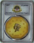 S.s. Central America 1.5 Grams Pinch 1 Of 1857 Gold Rush Nuggets Pcgs