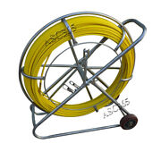Duct Rodder Fish Tape Continuous Fiberglass Wire Cable Running Puller With Cage