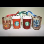Starbucks Holiday 2020 Ornaments - Set Of 4 Brand New With Tags Great Gift