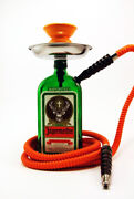 Jagermeister Glass Hookah With Attractive Glass Bottle Bonsai Planters