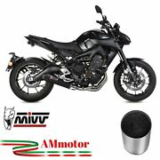 Full Exhaust System Motorcycle Mivv Mt-09 2016 Yamaha Oval Carbon Cap Approved