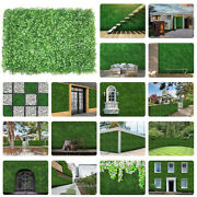 12pcs 24x16 Artificial Boxwood Mat Wall Hedge Decor Privacy Fence Panel Grass