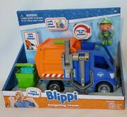 New Blippi Talking Recycling Truck Garbage Recycle Vehicle Gift Figure
