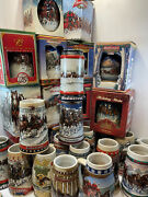 Lot Of 29 Budweiser Holiday Steins