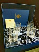 Faberge Atelier Crystal Collection Highball Glasses Nib. 5 1/4 H X 2 7/8 W