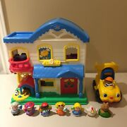 Fisher-price Little People Doll House, Dump Truck, People And Animal Lot