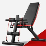Adjustable Sit Up Ab Incline Abs Bench Flat Weight Press Gym W/fitness Rope Us