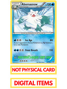 Abomasnow For Pokemon Tcg Trading Card Game Online Ptcgo In Game Virtual Card