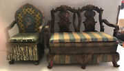 Lot Of 2 Antique Looking Trinket Chair Boxes Small Dresser Top Decorations
