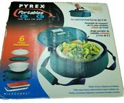 Pyrex Portables 6-piece Insulated Food Carrier Set 2.0 Qt. Dish Hot Or Cold