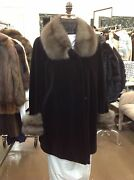 Russian Sable Black Sheared Mink 32 Swing Stroller Coat New Large/xl Top Qualit
