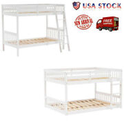 Pine Bunk Bed Vertical Version Straight Headboard Removable High Grade Bunk Beds