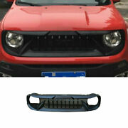 For Jeep Renegade 2015 2016-2018 Black Abs Front Center Mesh Grille Grill Trim