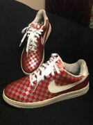 Rare Vintage 12/ 03 Menand039s 11m Nike Air Force 1 Red/ Silver Sneakers 306353-112