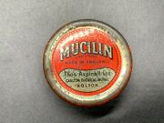Antique Vintage Mucilin Old Thos Aspinall Ltd Fly Fishing Line Wax Oil Stuff Tin
