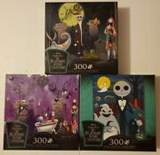Disney Nightmare Before Christmas Jigsaw Puzzle Set Of 3 Puzzles 300 Pcs Ceaco