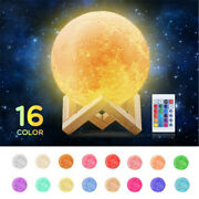 3d Dimmable Moon Lamp Night Light Kids Gift Led Color Change 8/15-20cm Remote
